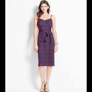 Ann Taylor Nautical Rope Slip Dress 8 Petite